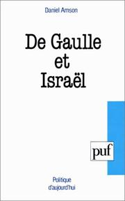 Cover of: De Gaulle et Israël