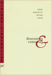 Cover of: Dissensions et consensus