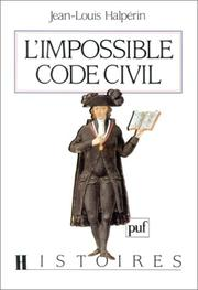 Cover of: L' impossible code civil