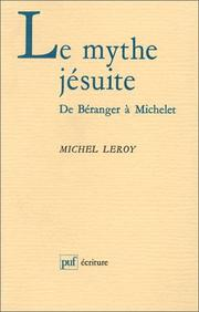 Cover of: Le mythe jésuite