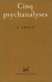Cover of: Cinq psychanalyses