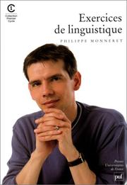 Exercices de linguistique by Philippe Monneret