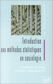 Cover of: Introduction aux méthodes statistiques en sociologie