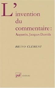 Cover of: L' invention du commentaire