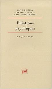 Cover of: Filiations psychiques