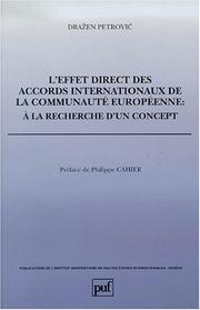 Cover of: L' effet direct des accords internationaux de la Communauté européenne