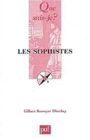 Cover of: Les sophistes