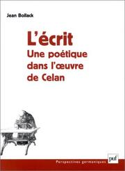Cover of: L' écrit