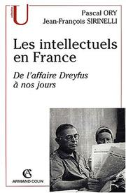 Cover of: Les intellectuels en France by Ory