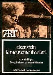 Cover of: Eisenstein, le mouvement de l'art