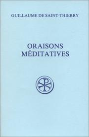 Cover of: Meditativae orationes