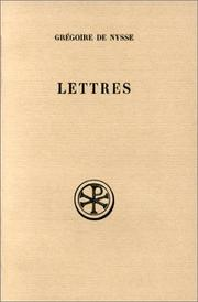 Cover of: Gregory of Nyssa: the letters