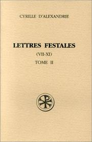 Lettres festales by Cyril Saint, Patriarch of Alexandria