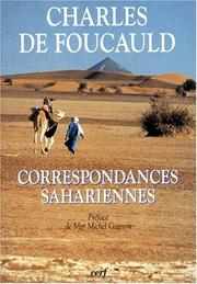 Cover of: Correspondances sahariennes