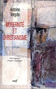 Cover of: Modernité et christianisme