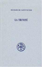 Cover of: La Trinite (Sources chretiennes)