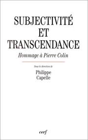 Cover of: Subjectivité et transcendance