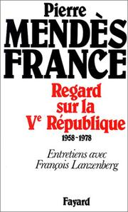 Cover of: Regard sur la Ve République