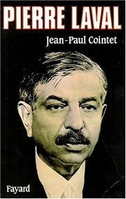 Cover of: Pierre Laval