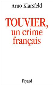Cover of: Touvier, un crime français