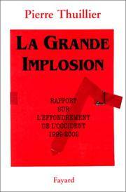 Cover of: La grande implosion