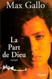 Cover of: La part de Dieu