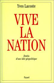Cover of: Vive la nation