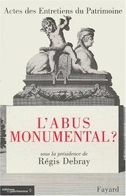 Cover of: L' abus monumental?