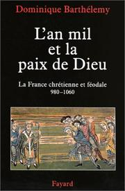 Cover of: L' an mil et la paix de Dieu