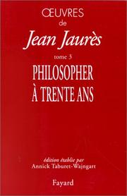 Cover of: Philosopher à trente ans