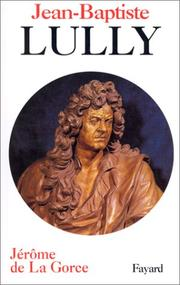 Cover of: Jean-Baptiste Lully