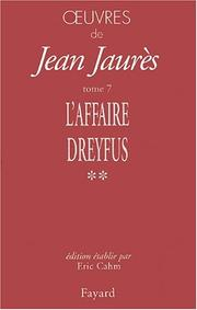 Cover of: Les temps de l'affaire Dreyfus(1897-1899)