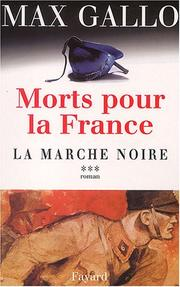 Cover of: Morts pour la France: suite romanesque