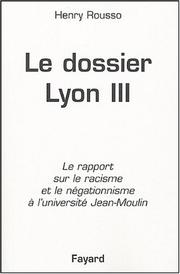 Cover of: Le dossier Lyon III