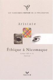 Cover of: Ethique à Nicomaque