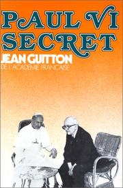 Cover of: Paul VI secret
