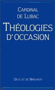 Cover of: Théologies d'occasion