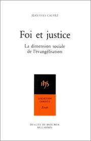 Cover of: Foi et justice