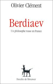 Cover of: Berdiaev, un philosophe russe en France