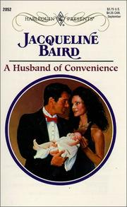 Cover of: Husband Of Convenience (Harlequin Presents, No. 2052) | Jacqueline Baird