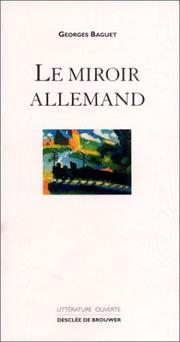 Cover of: Le miroir allemand
