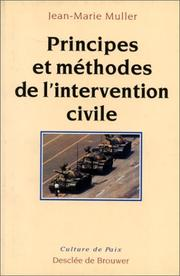 Cover of: Principes et méthodes de l'intervention civile