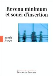 Cover of: Revenu minimum et souci d'insertion