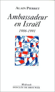 Cover of: Ambassadeur en Israël