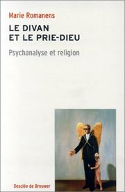Cover of: Le divan et le prie-Dieu