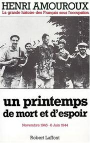 Cover of: Un printemps de mort et d'espoir