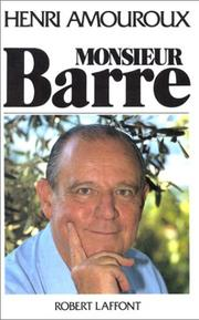 Cover of: Monsieur Barre