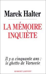 Cover of: La mémoire inquiète