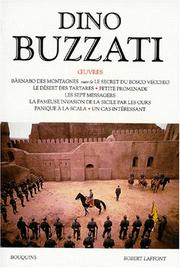 Cover of: Oeuvres de Dino Buzzati