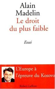 Cover of: Le droit du plus faible
